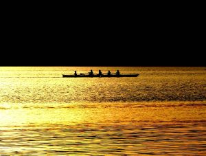 Rowing Sunset