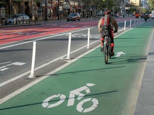 Bike lane in San Francisco