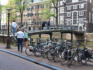 Pedestrian bridge in Amsterdam